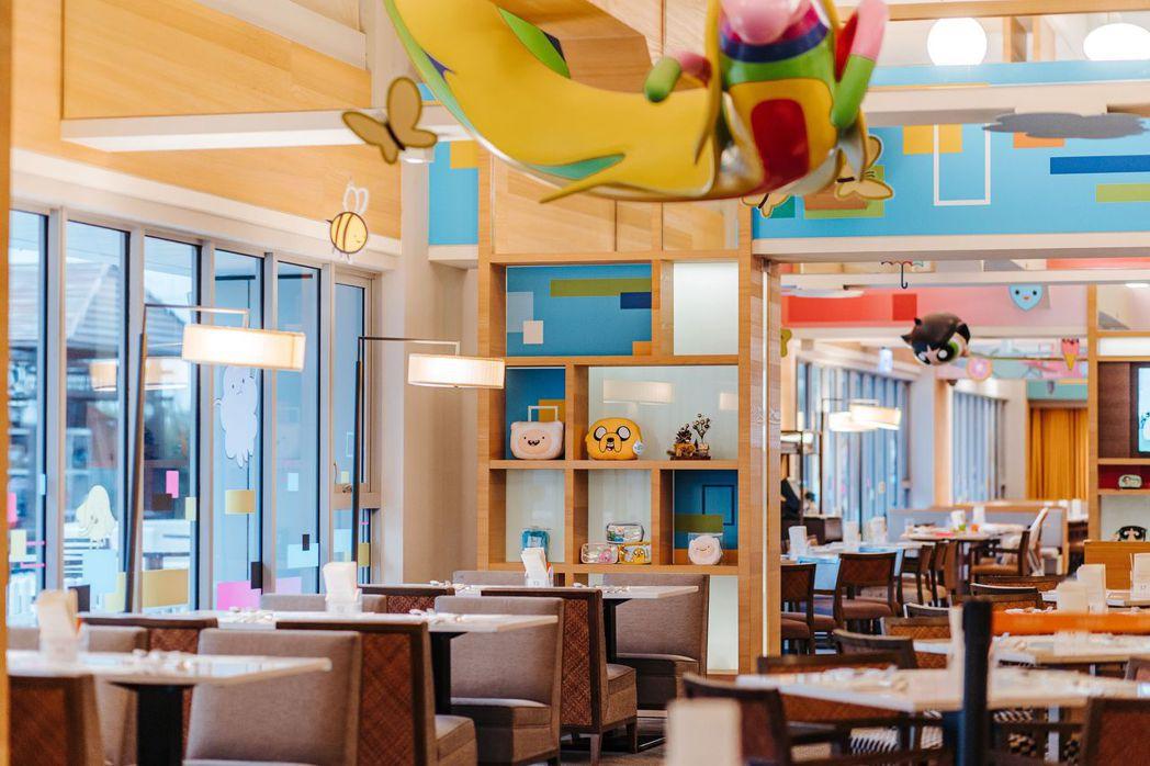 到和逸飯店台南西門館在卡通明星「飛天小女警」、「熊熊遇見你」和「探險活寶」環繞下...