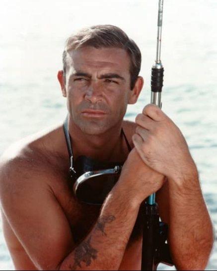 史恩康納萊因007電影變成性感男神,台灣壯陽藥廣告也曾偷用他的圖像。圖/摘自im...