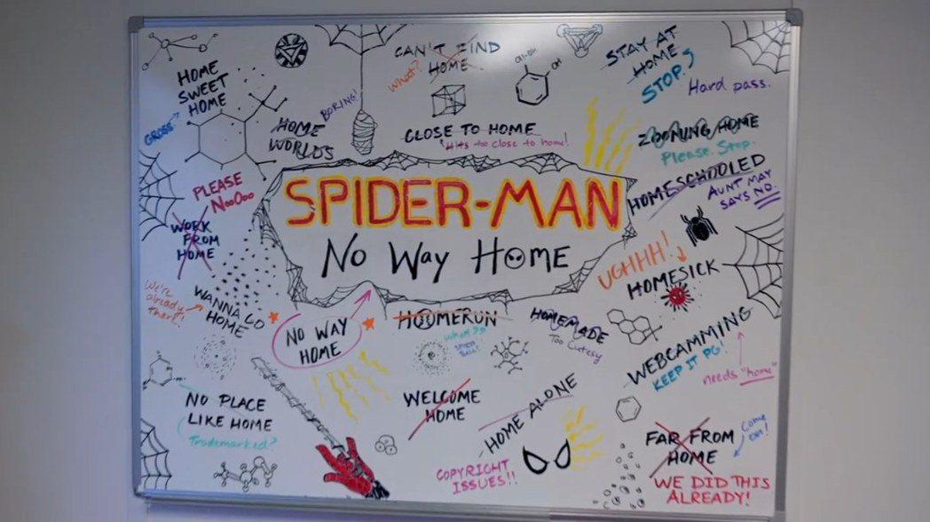「蜘蛛人3」命名白板彩蛋多。圖/摘自IG