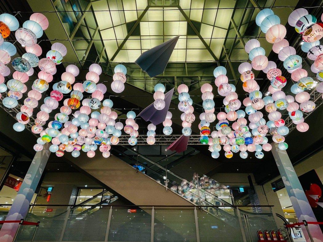 歡喜慶元宵,新竹SOGO打造超美花燈區 。圖/新竹SOGO提供
