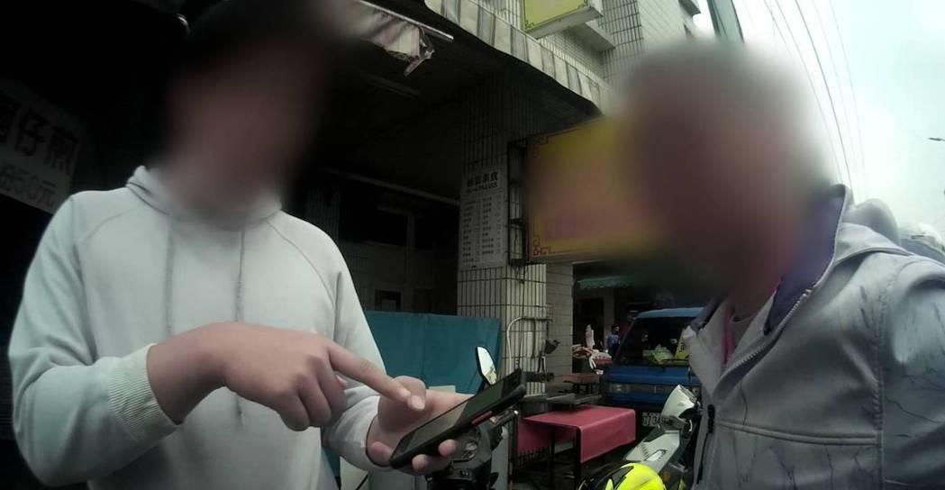 李姓男子手機被偷,警方透過定位系統,7分鐘就找到。記者吳淑玲/翻攝