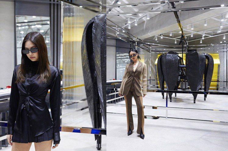 BLACKPINK的JENNIE(左)、MAMAMOO華莎,齊聚眼鏡品牌Gent...