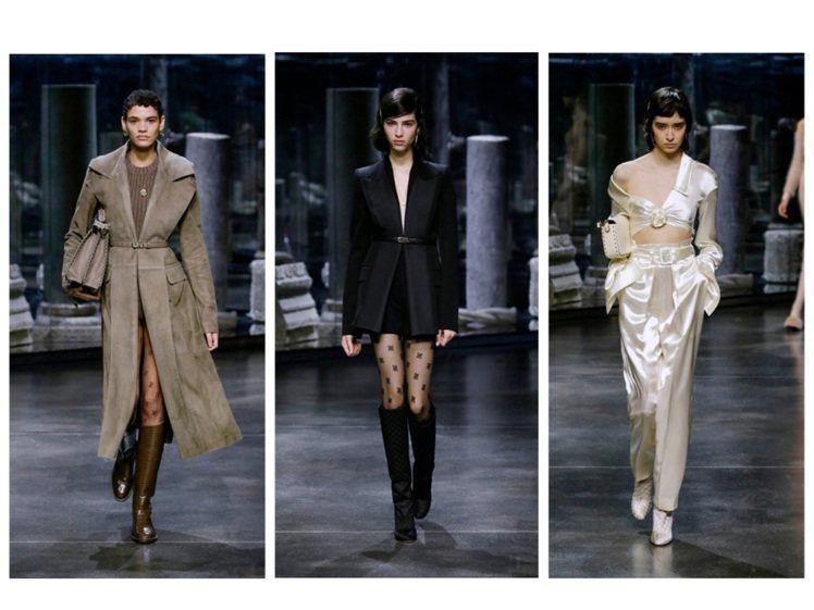 FENDI發表2021秋冬女裝。圖/FENDI提供