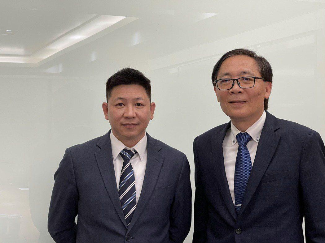 左起牧德總經理陳復生、董事長汪光夏