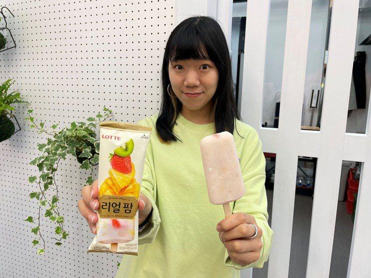 萊爾富推出超商獨家新上市的異國冰品「Lotte水果冰棒」,售價39元。圖/萊爾富...