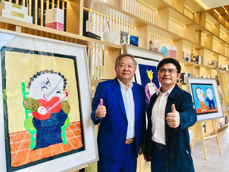 惠田開發董事長邱黎光(左)與惠蓀開發董事長陳蓀裕(右)。記者宋健生/攝影