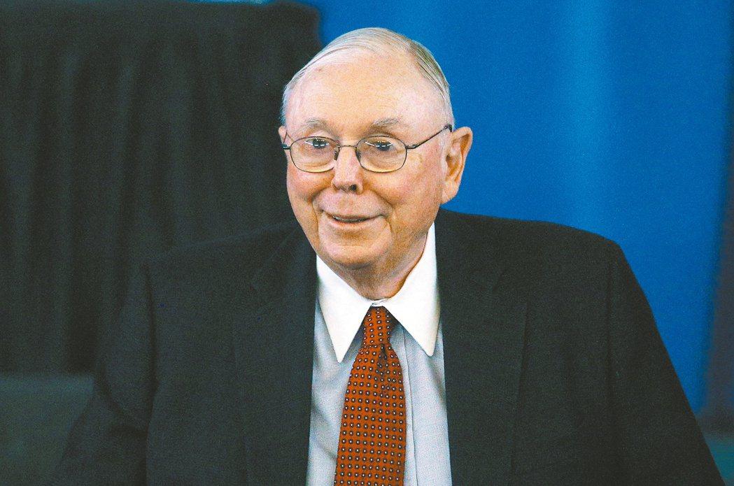 波克夏公司副董事長孟格警告,當前股市已出現泡沫跡象。(路透)