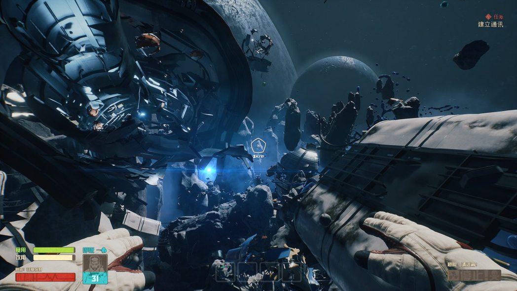 船隻被撕裂,一個人與雞漫步在殘骸中