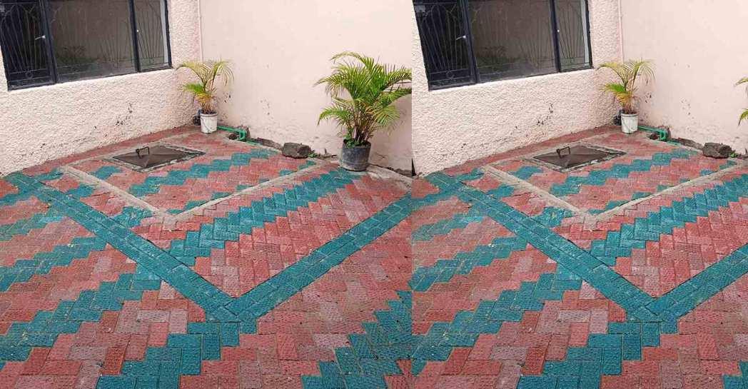 回收廢塑料製成的磚頭,可用來鋪路。圖/Gjenge Makers