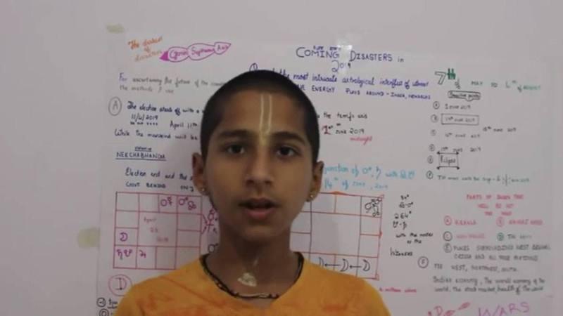 印度14歲天才少年阿南德(Abhigya Anand)曾預言2020年底將有一場更嚴重的災難,結果新冠肺炎病毒出現變種。(YouTube截圖)