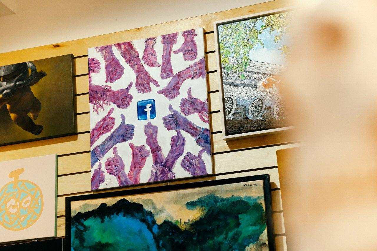 這張FB主題畫作是台灣年輕藝術家賴雅琦所創作,黃子佼說當時他買下這幅畫後才知道,...