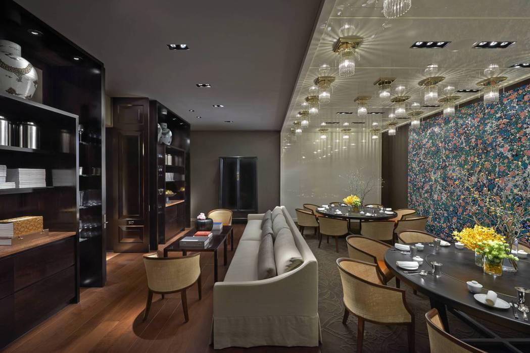 雅閣中餐廳的包廂典雅氣派,是小型聚會的首選。 台北文華東方酒店/提供