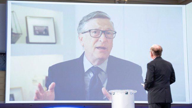 比爾蓋茲出席慕尼黑安全會議視訊會議。 歐新社