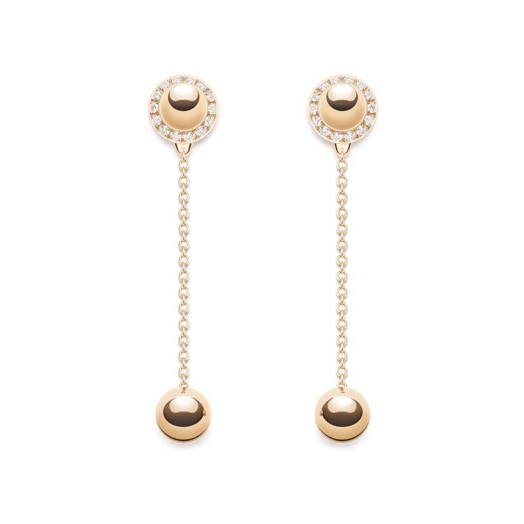PIAGET Possession系列玫瑰金鑲鑽耳環,約11萬6,000元。圖 ...