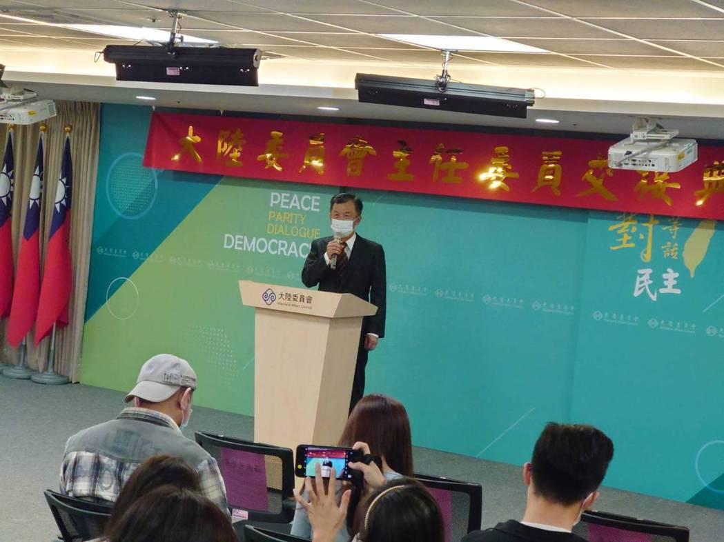圖為新上任的陸委會主委邱太三。聯合報系資料照片