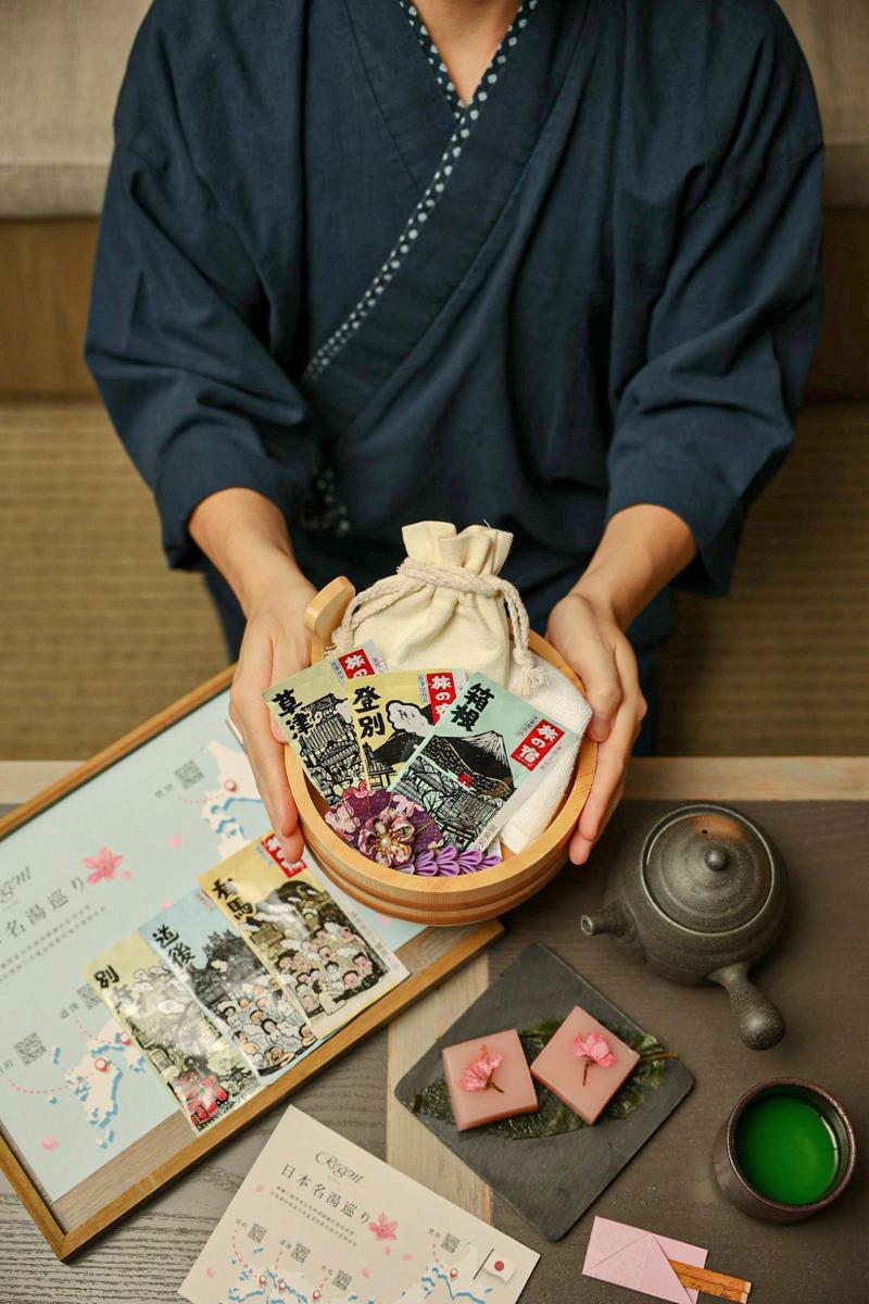 集合日本六大名湯,晶華春季「類出國」體驗再出招。(照片提供:晶華)