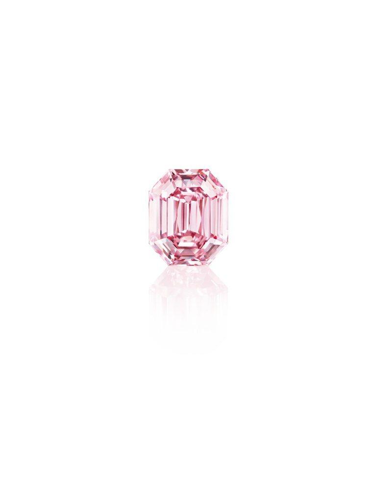 非凡稀有的18.96克拉Fancy Vivid Pink粉鑽,以令人驚豔的Fan...