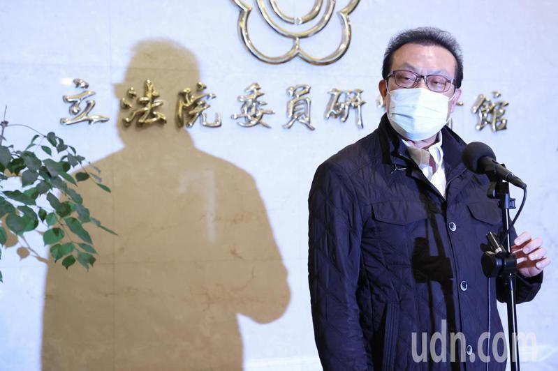 立委蘇震清昨天宣布退出民進黨。記者葉信菉/攝影