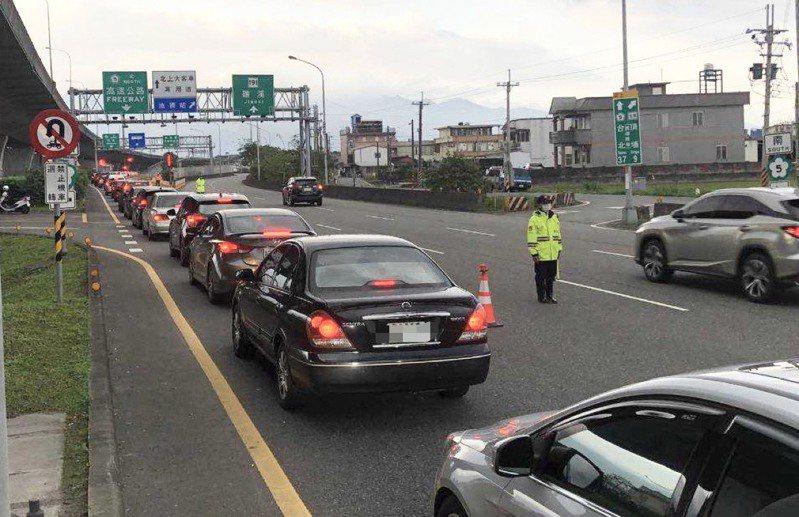 228連假將屆,宜蘭警方將動員大批警、民力,投入疏導交通。圖/警方提供