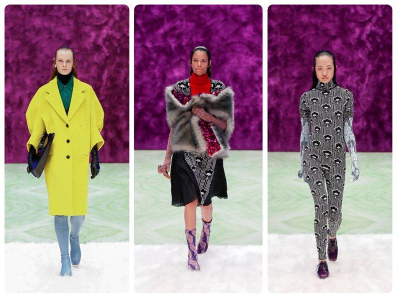 PRADA發表2021秋冬女裝。圖/PRADA提供