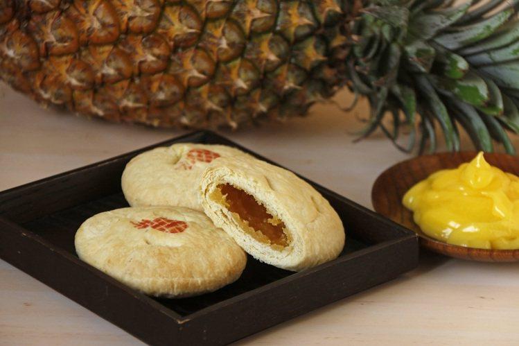 裕珍馨迷你旺來酥餅,內餡嚴選17號金鑽鳳梨製作,每一口都嘗得到鳳梨的酸甜滋味。圖...