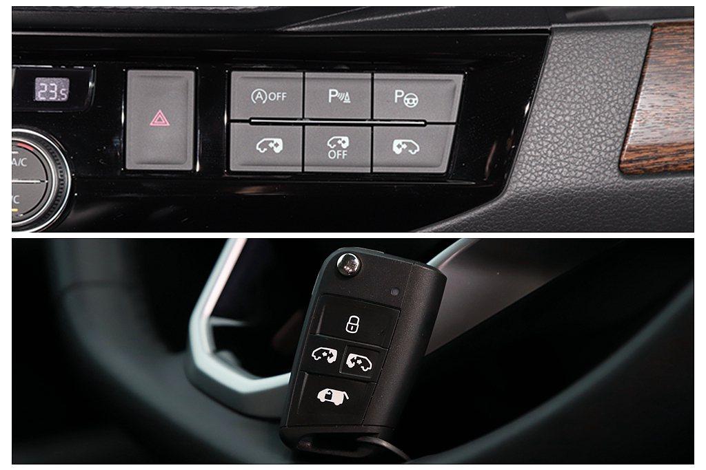 兩側滑門與電動尾門,不僅能透過中控台與駕駛內車門的控制按鈕來啟/閉,鑰匙也具備獨...