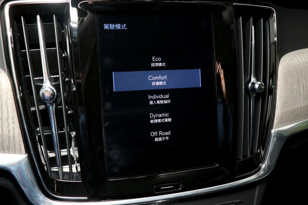 多元化的駕馭模式選擇,不論是想要節能、運動甚至越野模式,Volvo V90 Cr...