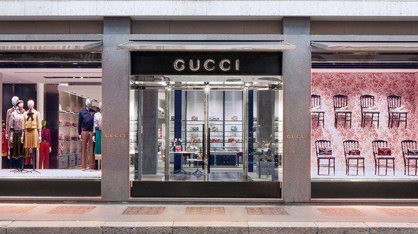古馳位於義大利米蘭的旗艦店。 圖片來源:Gucci古馳位於義大利米蘭的旗艦店...
