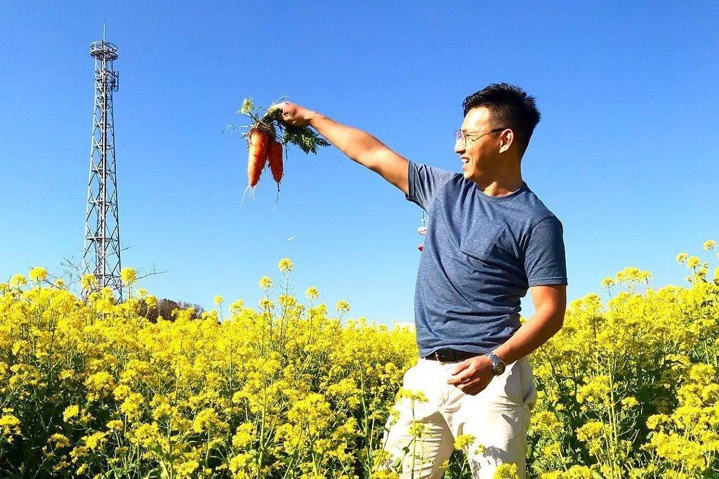 圖說2:張海德在日本公司MYFARM從事熱愛的農業推廣工作。(照片提供/張海德)