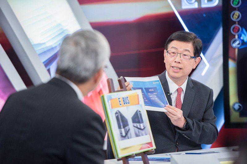 鴻海董事長劉揚偉接受《老謝看世界》專訪。圖/東森新聞提供