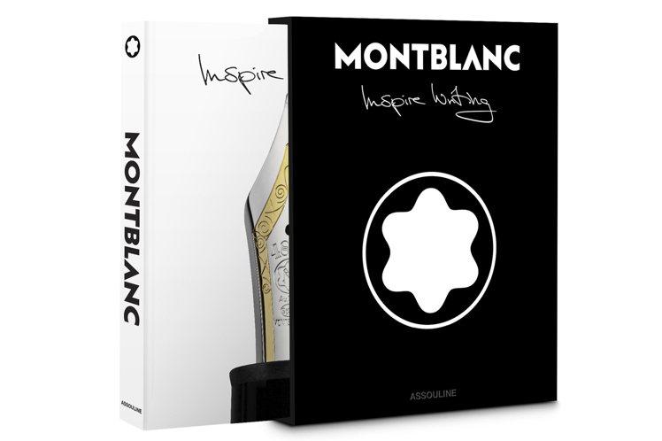 黑色精裝外殼、白色書衣的「Inspire Writing」,尺寸為26*35公分...