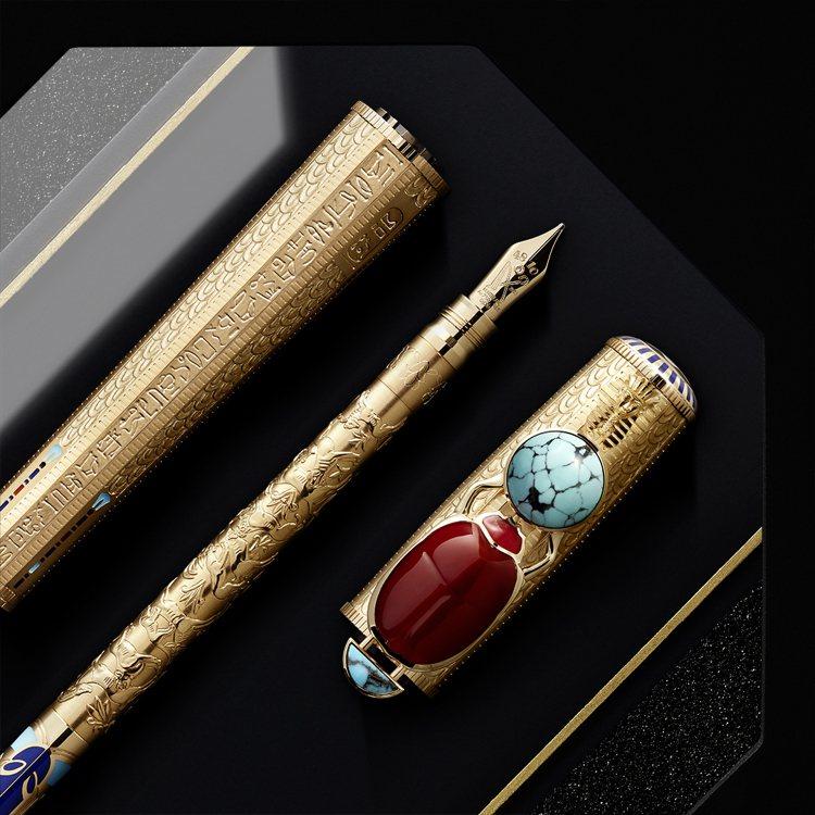 2020年時推出的高藝術性埃及主題書寫工具,將聖甲蟲、法老、古文明的意涵,巧妙轉...