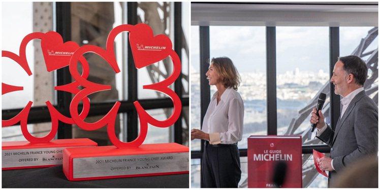 小型的頒獎活動於艾菲爾鐵塔上、離地面125公尺高的米其林一星餐廳Le Jules...
