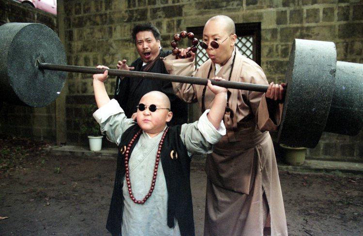 吳孟達(左起)、郝劭文合作拍片時。圖/本報資料照