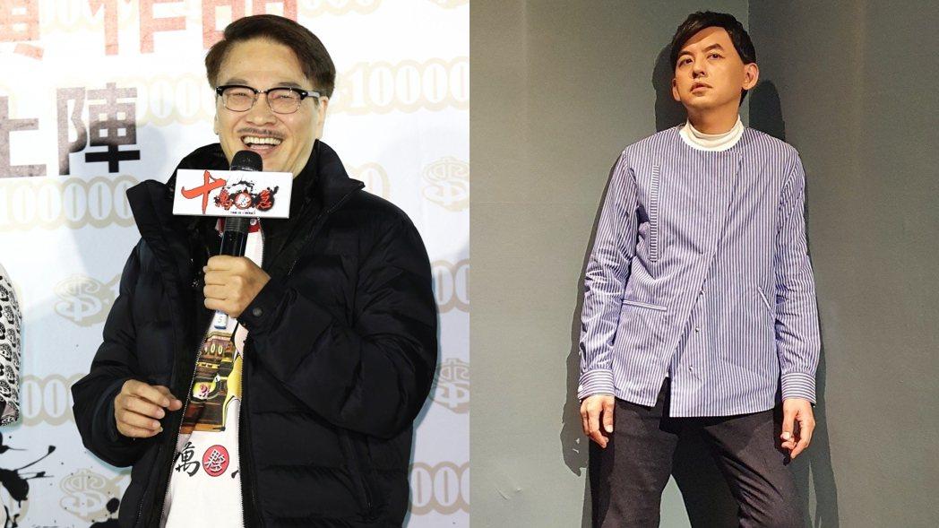 黃子佼(右)與吳孟達(左)。 圖/擷自臉書