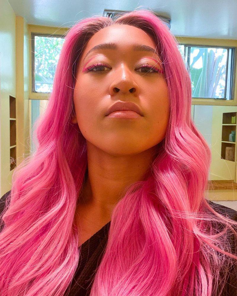 新科澳網女單冠軍大坂直美將頭髮杂色。 擷圖自大坂直美IG
