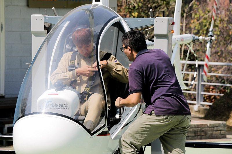 朝陽科大飛航系購置SVH-4直升機,提供學子操作訓練使用,從航空基礎教學到飛行專...