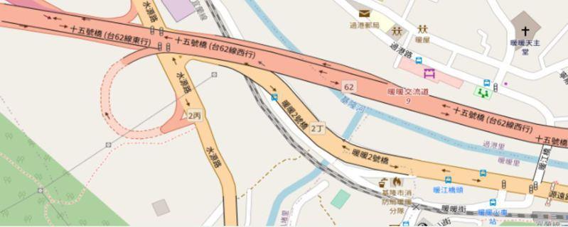 台62線西向基隆暖暖路段3月2日、4日的上午10點到隔日清晨5點,將封閉1線車道進行伸縮縫更換作業。圖/擷取自公路總局一工區網站