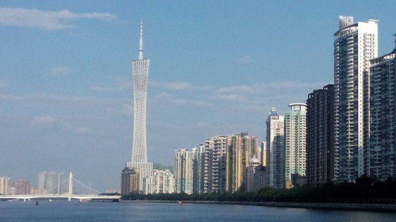 大陸2020年國內生產總值達101.5兆人民幣。圖為廣州市地標建築「廣州塔」。報...