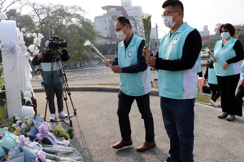 嘉義市政府因應疫情避免群聚,今上午舉辦228事件74周年追思縮小規模。圖/嘉義市政府提供