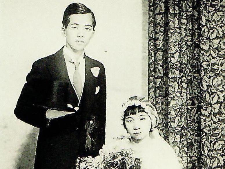 台灣前輩畫家郭雪湖(左)與膠彩畫家林阿琴於1935年結婚,當時傳為佳話。圖/國美館提供