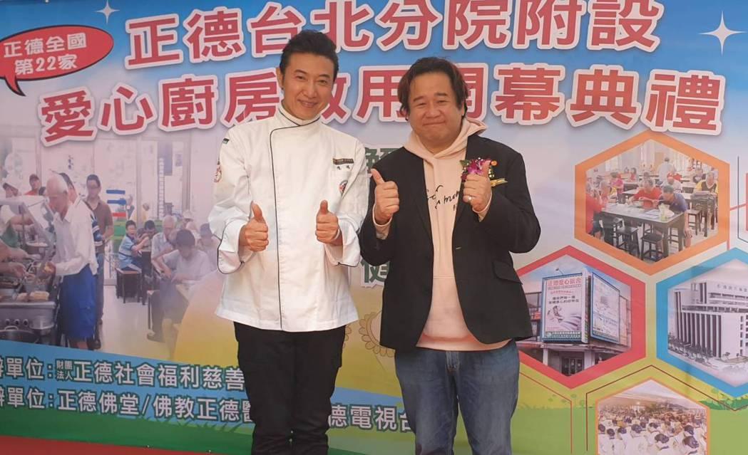 陳鴻與瞿友寧一起推廣公益。記者李姿瑩/攝影