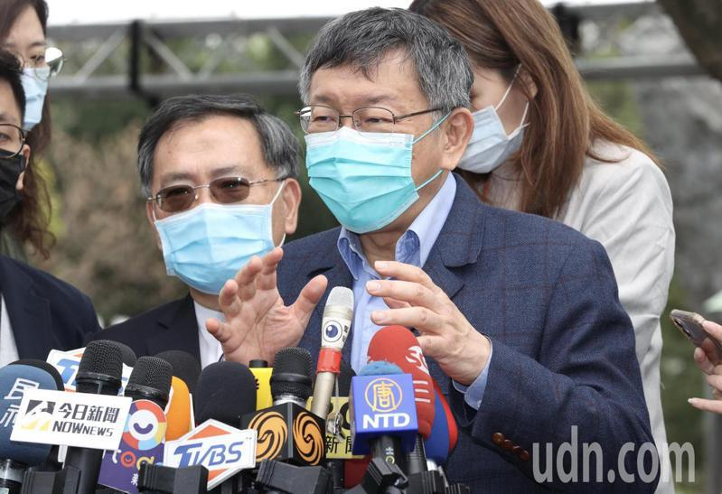 台北市長柯文哲表示,大陸每次說讓利台灣,但台灣每次都很不爽,3月1日要禁止進口,今天已是228,有幾天可以準備,台灣可以感受到大陸的善意嗎?記者黃義書/攝影