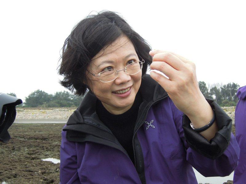 蔡英文總統2013年參加桃園藻礁活動,曾親筆寫下「藻礁永存」承諾。圖/潘忠政提供
