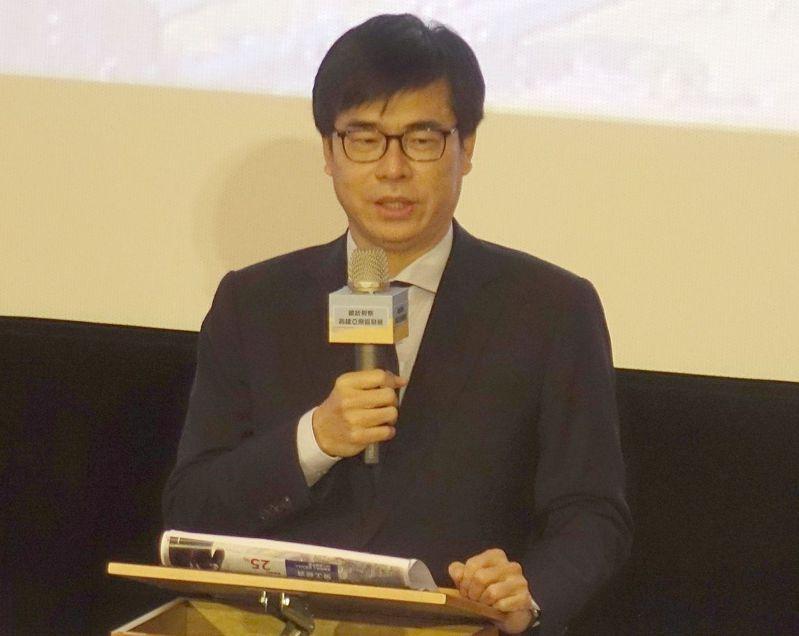 為展現在高雄亞洲新灣區推動5G AIoT新創園區決心,高雄市長陳其邁昨天宣布4項優惠。記者楊濡嘉/攝影