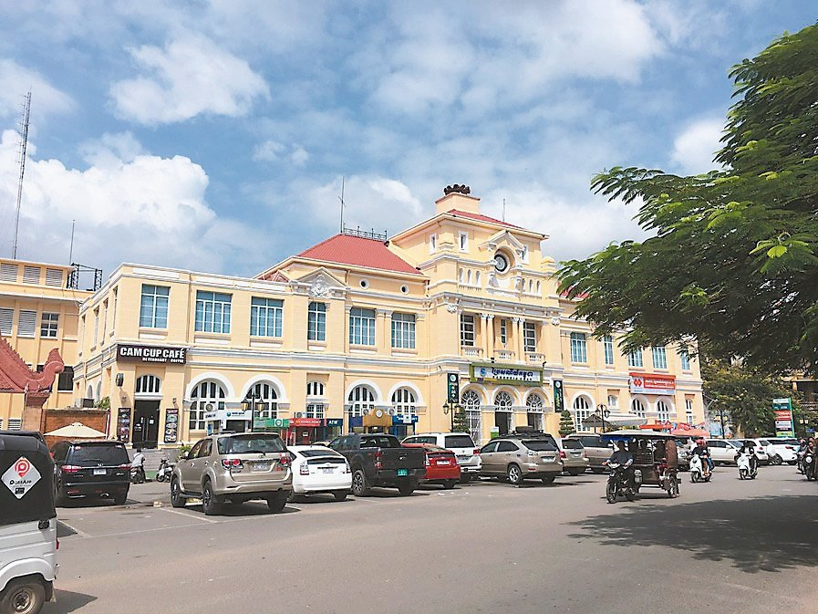 柬埔寨金邊分行躍升大型行庫海外金雞母,圖為金邊市街景。兆豐銀行/提供