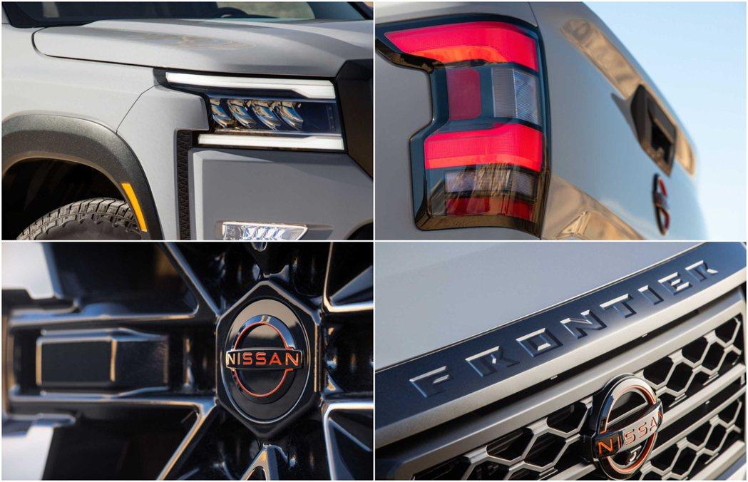 全新的廠徽與燈具設計,讓Frontier更加現代化。 圖/Nissan提供