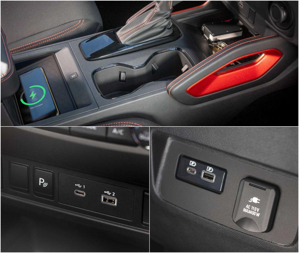 車內3C的輔助設備同樣一應俱全。 圖/Nissan提供