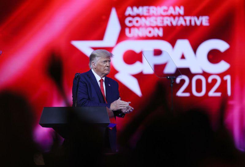 川普發表卸任後的首場大型演說,向熱情保守派民眾暗示自己可能會投入2024總統大選。 法新社