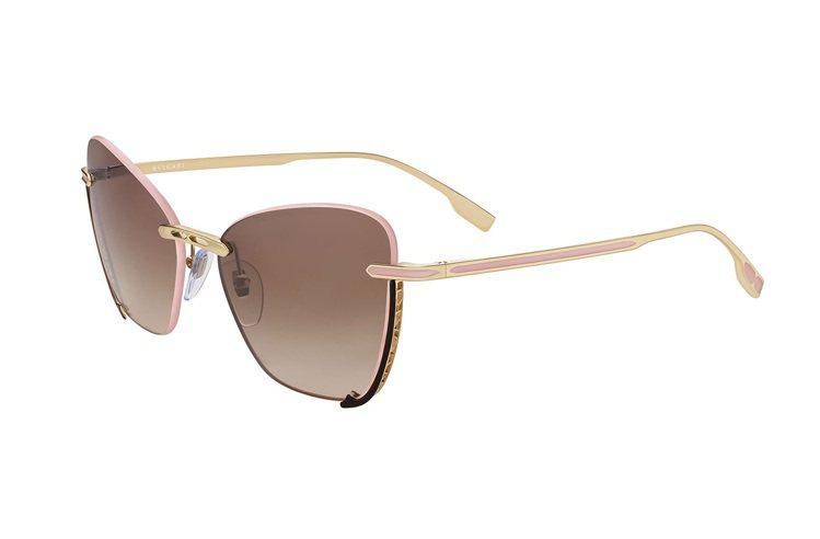 BVLGARI B.zero1貓眼金屬太陽眼鏡,售價店洽。圖/寶格麗提供